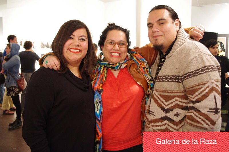 Director Ani Rivera and artists Melanie Cervantes & Jesus Barraza at the opening reception